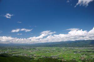 人吉盆地の田んぼ