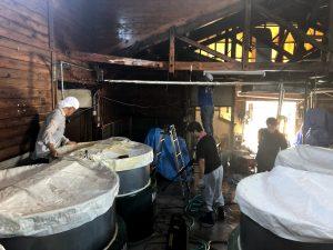 熊本豪雨|大和一酒造元|清掃|消毒|球磨焼酎|球磨川|