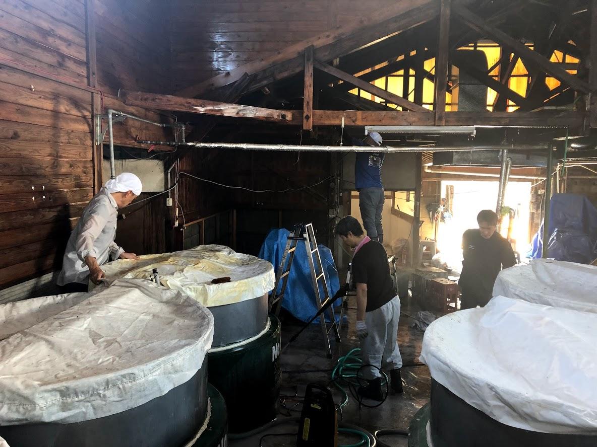 熊本豪雨 大和一酒造元 清掃 消毒 球磨焼酎 球磨川 
